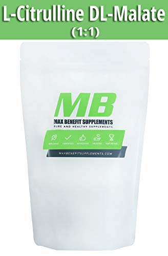 MaxbenefitSupplements Pure L-Citrulline DL-Malate 1:1 – Supports Stronger Endurance and Muscle Recovery Speed – 500g For Sale