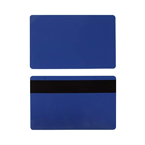 Pack of 500 Premium Graphic Quality Dark Navy Blue PVC w/HiCo 3 Track Mag Stripe Cards CR80 30 Mil Standard Credit Card Size CR8030HI by MY ID City ()