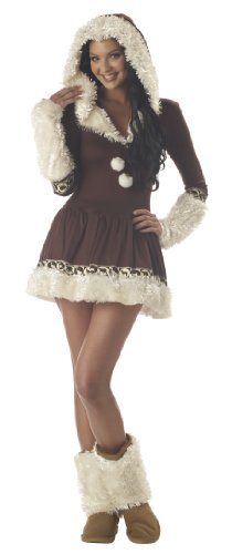 Kiss Costumes For Sale (California Costumes Women's Eskimo Kisses Costume,Brown/White,Small)