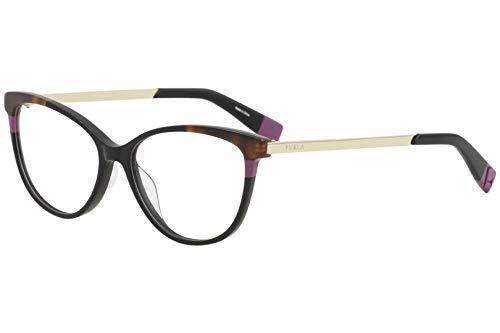 Furla Women's Eyeglasses VFU134 VFU/134 700Y Black Full Rim Optical Frame 53mm