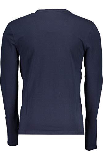 T Jeans M84i37j1300 shirt Uomo Blu Lunghe G720 Maniche Guess qA6EUzq