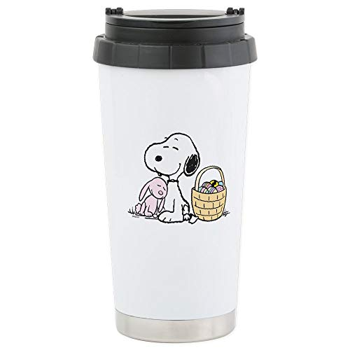 CafePress Beagle And Bunny Stainless Steel Travel Mug Stainless Steel Travel Mug, Insulated 16 oz. Coffee -