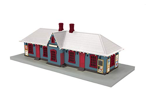 (MTH 30-90587 North Pole Station Passenger Station w/Operating Christmas Lights)