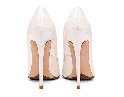 Guoar Damesschoenen Met Hoge Hakken Pumps Schoenen Voor Party Banket Schoenen Maat 5-12 Us White Metal Bright