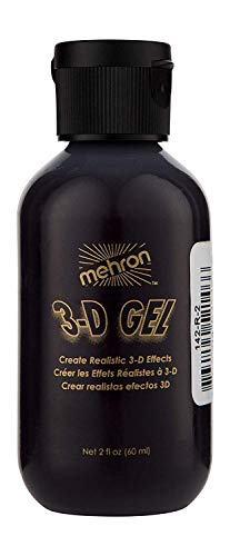 Halloween Blood Dripping Makeup (Mehron Makeup 3-D Gel (2 oz) (Blood)