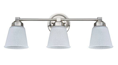 Aspen Creative 62070-1, Three-Light Metal Bathroom Vanity Wall Light Fixture, 21 1/4
