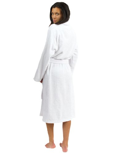 TowelSelections Terry Cloth Bathrobe - Shawl Collar Terry Robe for Women and Men, 100% Turkish Cotton, Made in Turkey (White,S/M) by TowelSelections (Image #2)