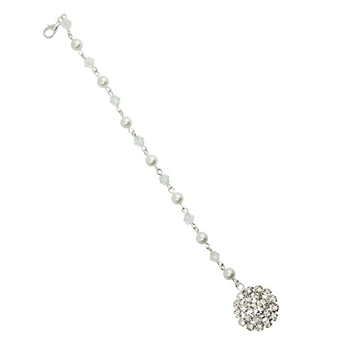 Necklace Backdrop (KINGDE women's Back Drop Bridal Necklace Extension crystal with pearl#24)