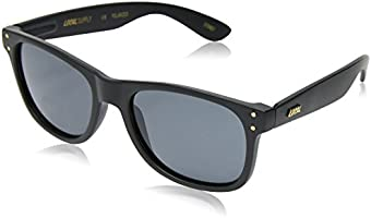 Local Supply Men's EVERYDAY Polarized Sunglasses - Dark Grey Tint Lens, Matte Black Frames