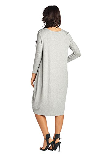 Long Jersey Comfortable Mid Women's Various Gray Dresses Days Styles Heather 82 qXp0w