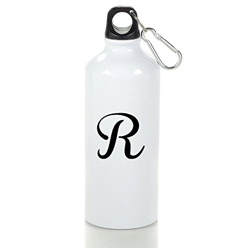 MZONE Letter R Logo Stylish Aluminum Sports Kettle Cups White With Carabiner Hook,400-600ml - Justin Oklahoma Brown