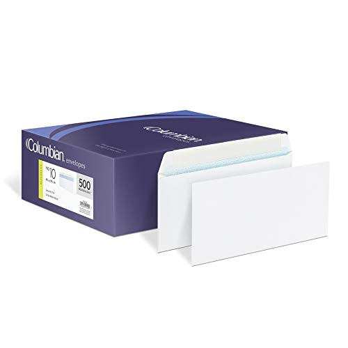 Meadwestvaco Security Envelopes - Columbian #10 Business Envelopes, Grip-Seal, Security Tinted, Non-Window, 4-1/8