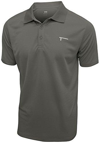 TREN Herren COOL Mesh Performance SS Polo Shirt Funktionspolo Dunkelgrau 020 - M