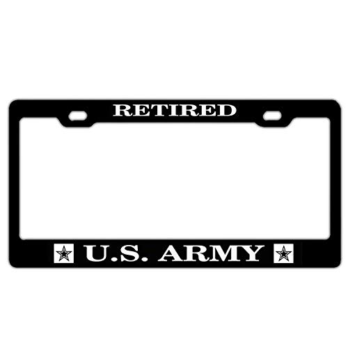 XYcustomBest US Army Engineer License Plate Frame | Retired U.s. Army | Tag License Plate Cover for Front/Back Vehicle | 100% Guaranteed Durability - Retired Plate License Army