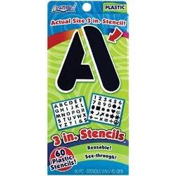 Bulk Buy: Artskills (3-Pack) Reusable Stencils 3\' PA-1348