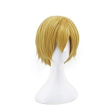 Ani·Lnc Wigs Short Yellow Men Cosplay Hair