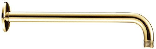 Danze D481027PBV 15-Inch Right Angle Shower Arm, Polished Brass PVD ()