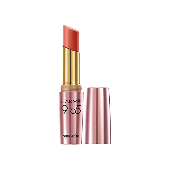 Lakme 9To5 Primer + Creme Lip Color, Brick Blast CR4, 3.6 g