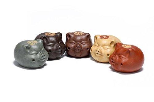 Yixing Tea Pet Chinese Zisha 5pcs Pig Handmade art yixing