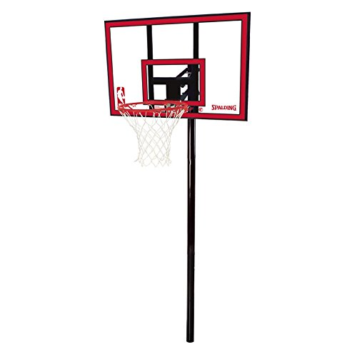 Spalding 88351 Nba 44in Polycarbonate In Ground Basketball System