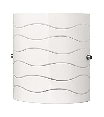 Linea di Liara Avellina One-Light Wall Lamp, Carved Opal Glass LL-WL828