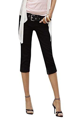 Schwarz Denim Léger Slim Jeans Style Femmes Coul Skinny Spécial Corsaires Fit Pantalons mIbf7vYgy6