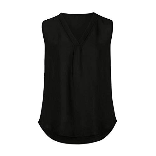 paules Schwarz Spcial Manche Tops Nues Mousseline Et Tee V Elgante Tshirt Irrgulier Shirt Confortable Mode Manches Casual Uni Femme sans Cou Haut Style wwOqBXa