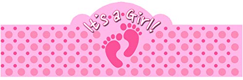 It's a GIRL! (Baby Feet) 20 Pack of Self-Adhering Cigar Bands /