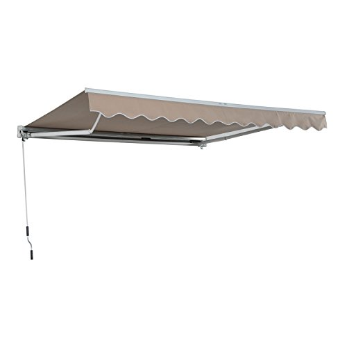 Review Creamy 13″x8″ Manual Awning