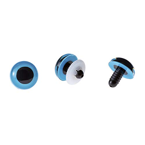 Darice AE60C-06 50 Piece 18mm Animal Eye with Washers Blue Buttons, ()