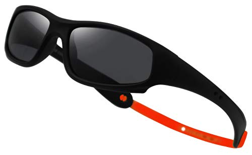 COOLSOME Flexible Rubber Kids Polarized UV Protection Sunglasses for Boys Girls 2-7 Years Old ()