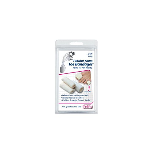 Pedifix Tubular-Foam Toe Bandage Pk/3 Large Part - Pedifix Foam