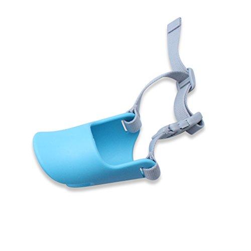 ETGtek Pato suave silicona de pico de pato Boca Anti-morder la seguridad del perro para mascotas Jaula Máscara Bozal ajustable (azul, tamaño: S)