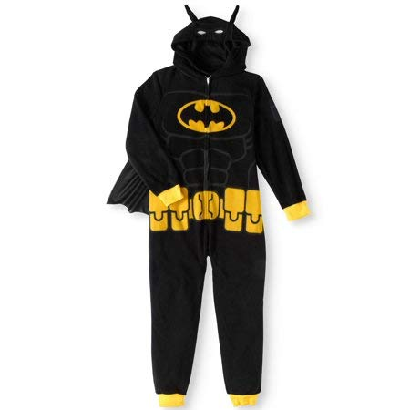Batman Lego Costume (LEGO Batman Big Boys' Costume, Onesie Pajamas, All-in-One Set, Black,)