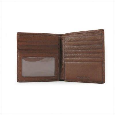 Osgoode Marley Mens ID Hipster Bifold Wallet (Brandy) ()
