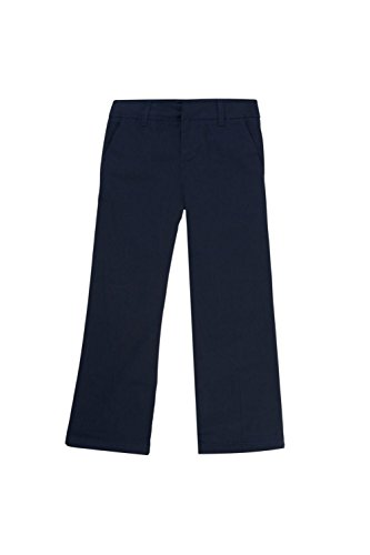 French Toast Girls Size' Adjustable Waist Flat Front Bootcut Pant, Navy, 12.5 Plus