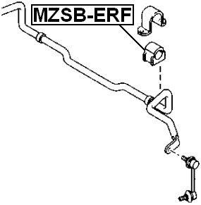 Front Stabilizer Bushing D27 For Mazda Eg2134156D Eg21-34-156D
