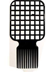 PAPY, Afro & Twist Comb (Black)-Barber Favored, Two in One as it is both an Afro and twisting comb
