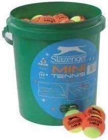 Slazenger Low Compression Mini Tennis Training Balls 60 Ball Bucket