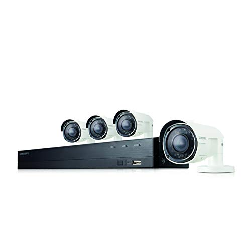 Samsung Wisenet SDH-B73043 4 Channel 1080p HD 1TB Security Camera System with 4 Outdoor BNC Bullet Cameras SDC-9443BC (Certified Refurbished)