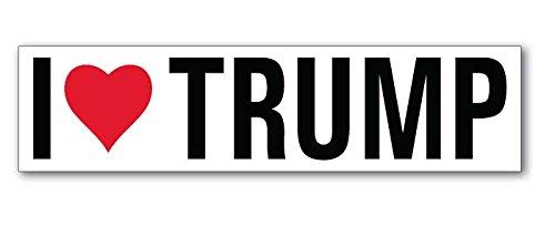 I Love Heart Trump - Window Bumper Sticker Decal 8