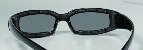 Global Vision Chicago Padded Riding Glasses (Black Frame/Smoke Lens)