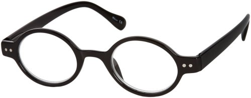 Readers.com The Davey +1.50 Black Small Round Retro-Inspired Glasses Reading - Sit That Your Nose On Glasses