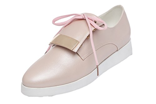 Passionow Christmas 2015 Spring New Style Lace UP Platform Cute Womens Shoes (7 B(M)US(M)US,Pink)