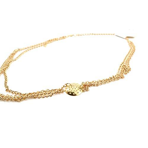 Chain Tassel Headband Circle Head Crossover Hair Band Jewelry for Women Girls