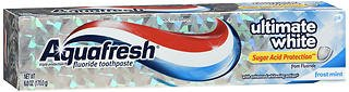 Aquafresh Ultimate White Toothpaste Frost Mint - 6 oz, Pack of (Aquafresh White Toothpaste)