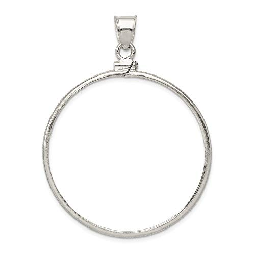 (Roy Rose Jewelry Sterling Silver for U.S. Silver Dollar Coin Plain Bezel Pendant)