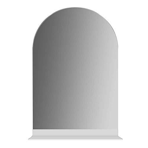 JWZQ Bathroom Wall Mirror, Vanity Mirror, with Shelf, Explosion-Proof & high-Definition, Elegant -