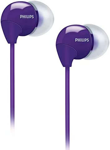 Philips SHE3590PP 98 In-Ear Headphone Earphones W Bass Sound Purple