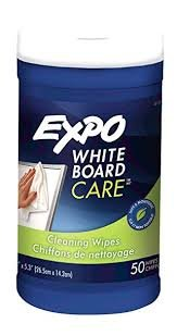 EXPO : Dry Erase Board Cleaning Wet Wipes, 6 x 9, 50 per container -:- Sold as 2 Packs of - 1 - / - Total of 2 Each